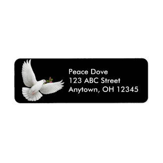Peace Dove with Olive Branch Label Return Address Label