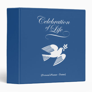 Peace DoveCelebration of Life Memorial Guest Book Binder