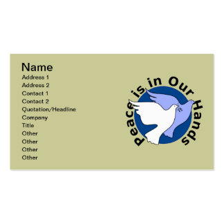 Peace Doves Double-Sided Standard Business Cards (Pack Of 100)