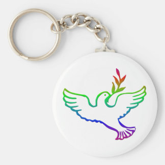 PEACE DOVES KEYCHAIN