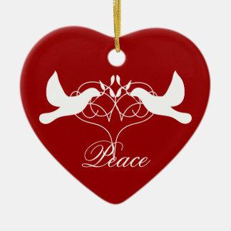 Peace Doves Ornament