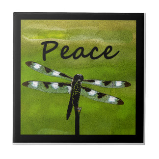 Peace Dragonfly Tile