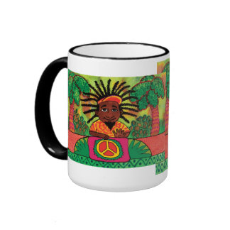 Peace Drummer Ringer Coffee Mug