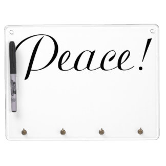 PEACE DRY ERASE BOARD WITH KEYCHAIN HOLDER
