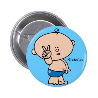 Peace dude Button - customizable name and bg color