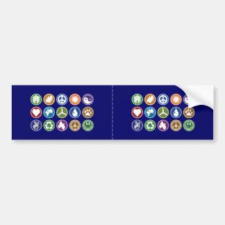 Peace & Eco Symbols Bumper Stickers