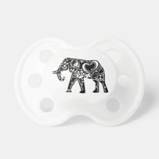 Peace Elephant Baby Pacifiers