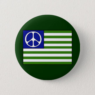 Peace Flag 2 Inch Round Button