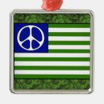 Peace Flag Christmas Ornament