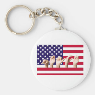 Peace Flag in ASL Keychain