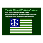 Peace Flag Large Business Cards (Pack Of 100)