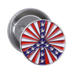 Peace Flag Pinback Buttons