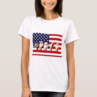 Peace Flag spelled out in ASL T-Shirt