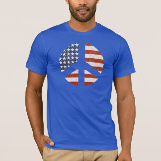 Peace Flag T-Shirt - American Flag peace sign