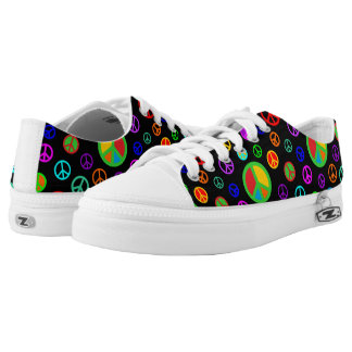 PEACE - Flat pattern multicolored + your backgr. Low-Top Sneakers