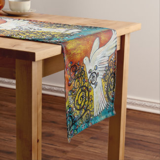 Peace Flew In Dove Table Runner