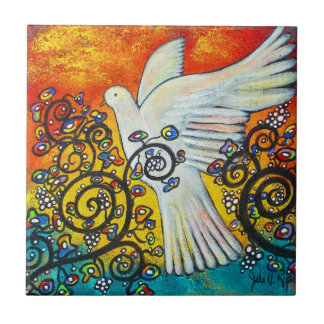 Peace Flew In Dove Tile