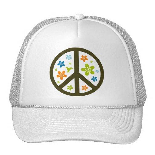 Peace Floral Design Trucker Hat