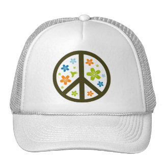 Peace Floral Design Trucker Hat