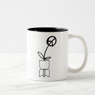 Peace Flower from War Bombs Coffee Mug