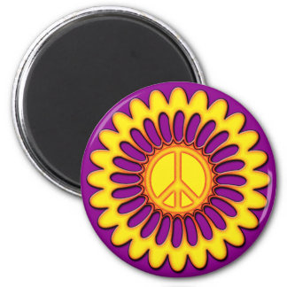 PEACE FLOWER MAGNET