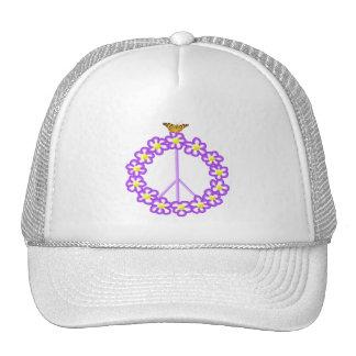 Peace Flowers Butterfly Hat