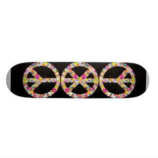 Peace Flowers Custom Skate Board