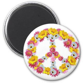 peace flowers magnet