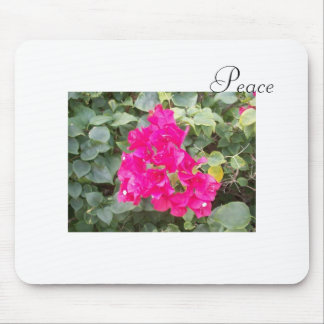Peace Flowers Mouse Pad