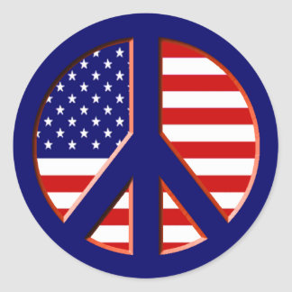 Peace for America Round Sticker
