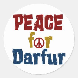 Peace For Darfur 5 Round Sticker