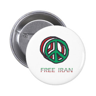 Peace for Iran 2 Inch Round Button