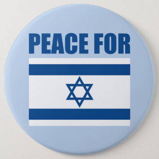 Peace for Israel 6 Inch Round Button