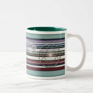 Peace for Israel Two-Tone Coffee Mug