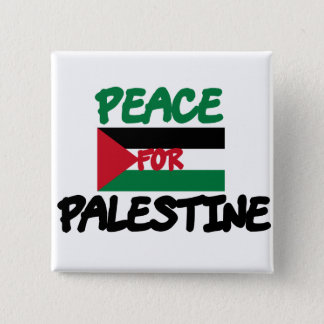 Peace for Palestine 2 Inch Square Button
