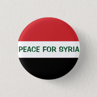 PEACE FOR SYRIA 1 INCH ROUND BUTTON