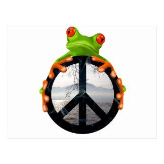 peace frog1 postcard
