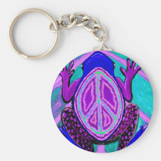 Peace frog blues keychains