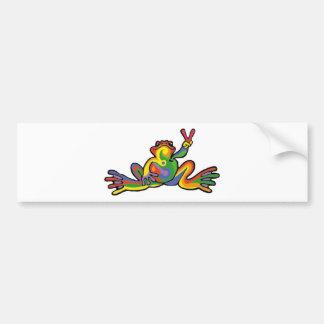 Peace Frog Bumper Sticker
