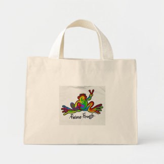 Peace Frogs Mini Tote Bag
