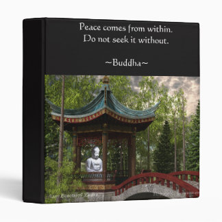 Peace From Within, Buddha Quote Binders