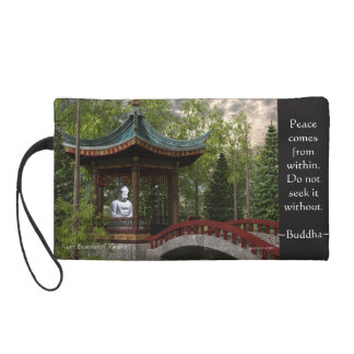 Peace From Within, Buddha Quote Wristlet Clutch