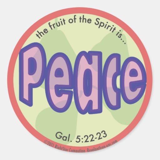 Peace Fruit of the Spirit Spot Sticker
