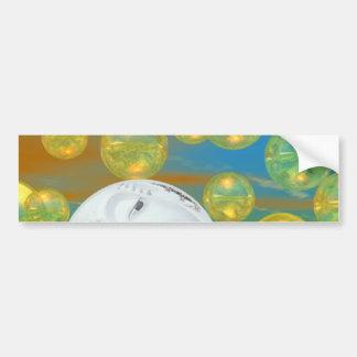 Peace – Golden and Emerald Serenity Bumper Sticker