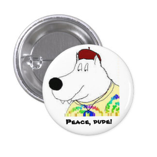 Peace Guy 1 Inch Round Button