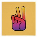 Peace Hand Sign Poster/Print