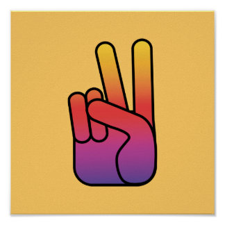 Peace Hand Sign Poster/Print Poster