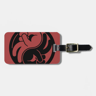Peace Hand Yin Yang Luggage Tag