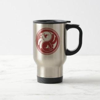 Peace Hand Yin Yang Travel Mug