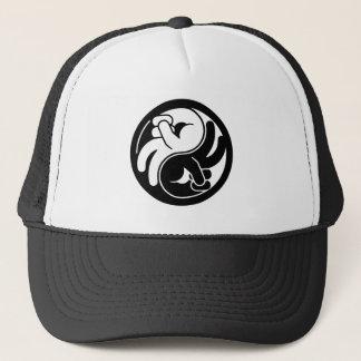 Peace Hand Yin Yang Trucker Hat